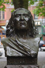 Chief Seattle [Bust] near Pioneer Square, Seattle, WA