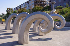 Curl Sculpture at the Hiram Chittenden's Government Locks - Fish Ladder, Seattle, WA