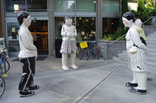 Statues outside Whole Foods store, 2210 Westlake Avenue, Seattle, WA, 98121